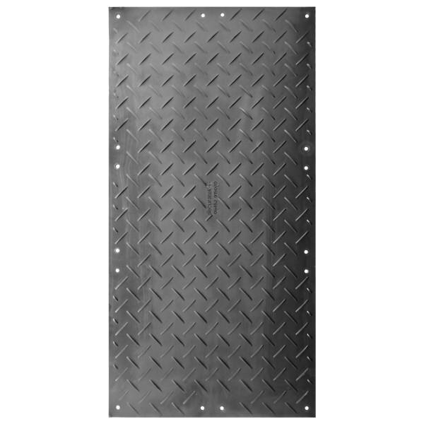 s:tek 48 · Hochleistungs-Bodenschutzplatte · 8mm/0mm beidseitige Profilstruktur (wählbar) · Belastbar bis ca. 120 Tonnen