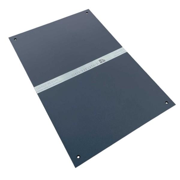 e:tek MINI EVO· Kompakte Fahrplatte · 1500 x 1000 x 12 mm · 1,50 m² · Belastbar bis ca. 15t** · Beidseitige EvoGrip Profilierung · 4 Verbindungslöcher · LDPE Kunststoff