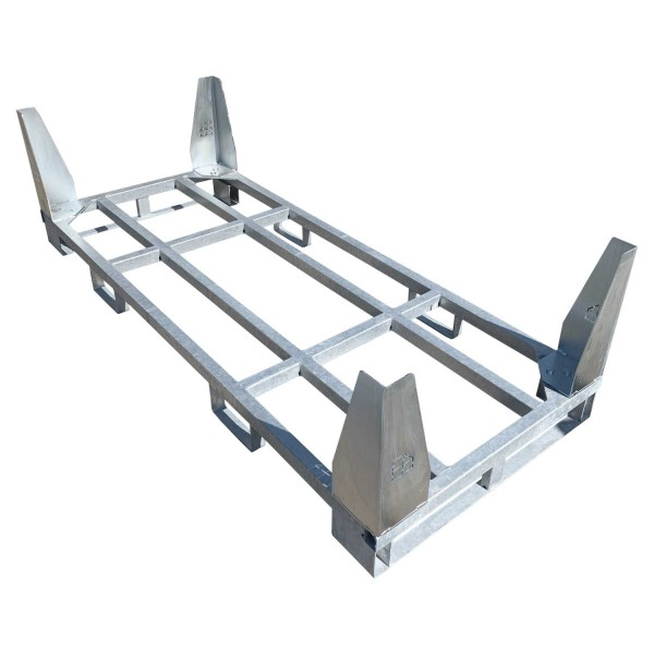 Stahlpalette · Transportgestell für v:tek MINI Fahrplatten