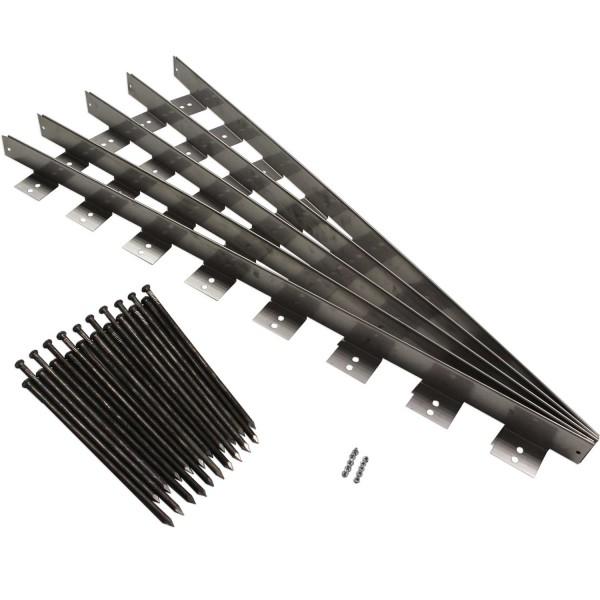 Randeinfassung Stahl RES60 · 950 x 50 x 60 · 0,457 kg · 1,5 mm Wandstärke · 8 Kopplungen · Edelstahl