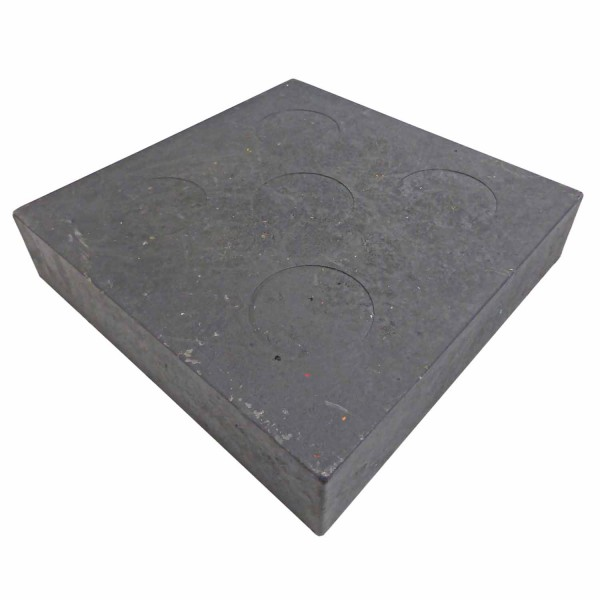 Unterlegplatte 240 x 240 x 50 · 0,06 m² · 7,5 t/m² · 3,70 kg (ohne Zapfen) · PVC Kunststoff · Stapelbar