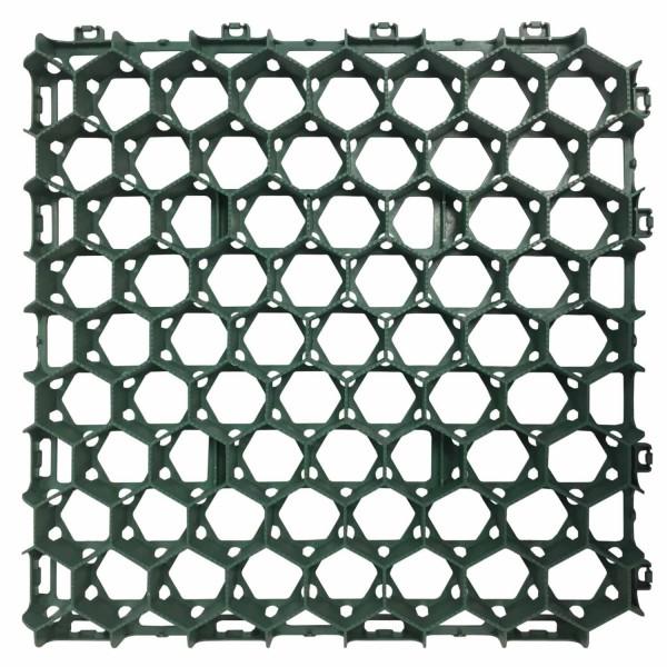 Rasenwabe RW40 · 0,25 m² · 500 x 500 x 40 mm · 350,0 t/m² · 0,80 kg · 1,00mm Profilierung · 16 Kopplungen