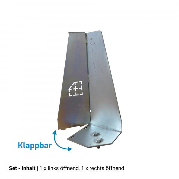 Sicherungswinkel 40cm, klappbar (Set)