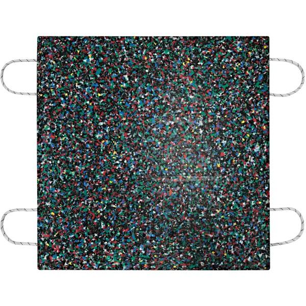 Kranplatte · 1000 x 1000 x 40 mm · ca. 35t/Stk · 1,00 m² · 70t Krangröße · 40,00 kg · 4 Tragegriffe · HDPE Kunststoff