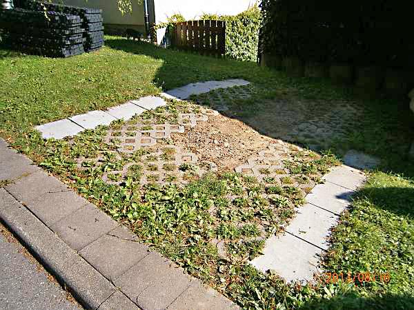 Prächtig Anlegen eines zusätzlichen PKW-Stellplatz im Vorgarten mit dem @CA_88