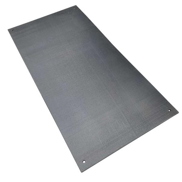 v:tek Rubber · Pflasterschutzmatte als Lastverteilerplatte aus HDPE Kunststoff mit gummierter Unterseite zum Schutz empfindlicher Böden & geriffelter Oberseite