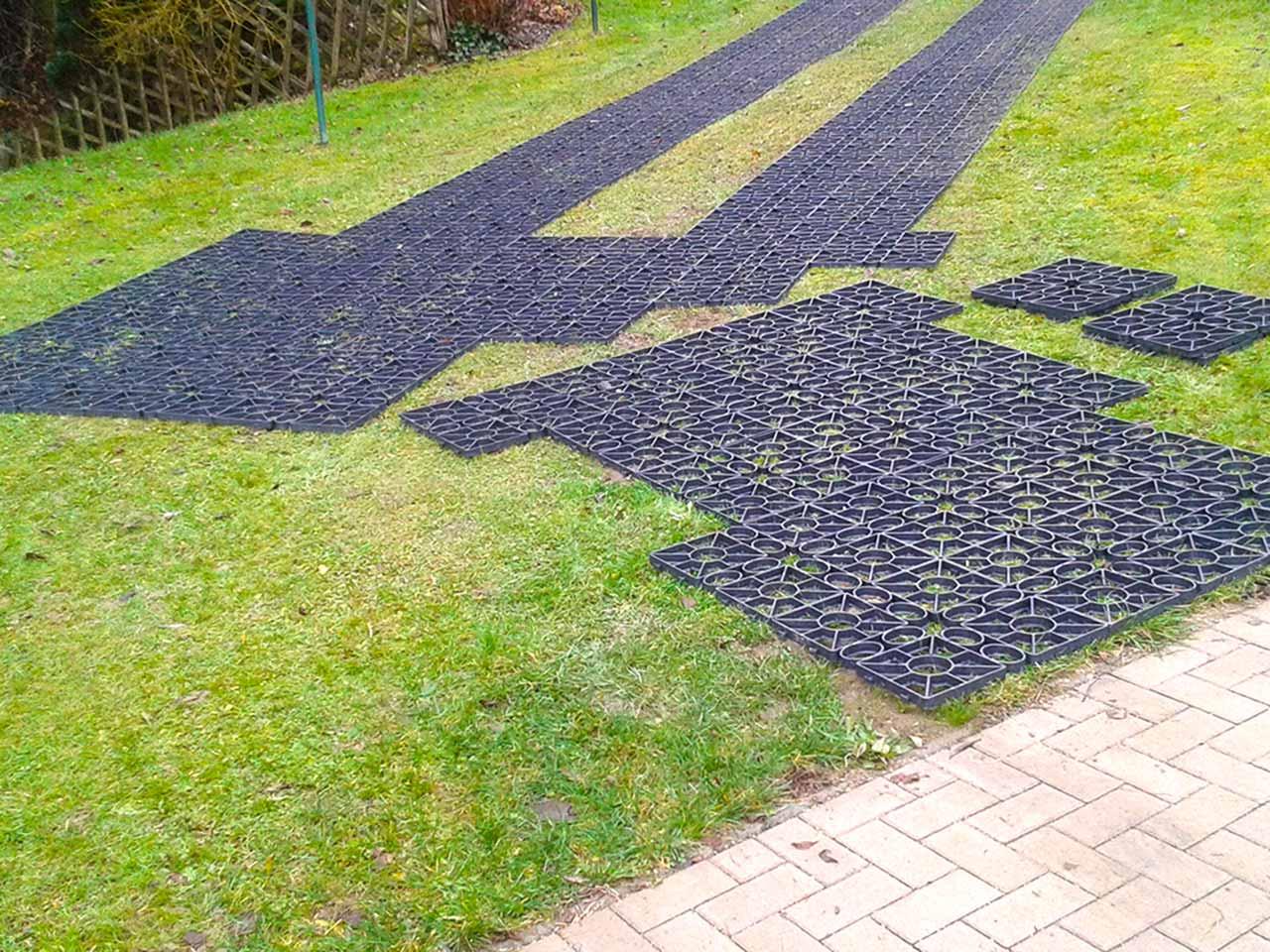 Extrem Rasengitter RG24 ohne Unterbau direkt auf Rasen Verlegen | securatek UY49
