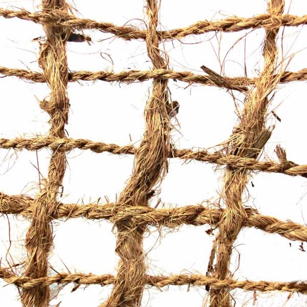 Kokosgewebe KG400 · 100 m²/Rolle · 50000 x 2000 x 5 · 40,00 kg · bis zu 40° Steigung· Kokos · 20-30 mm Fadenabstand · 3 Jahre Lebensdauer · Herkunft: Sri Lanka