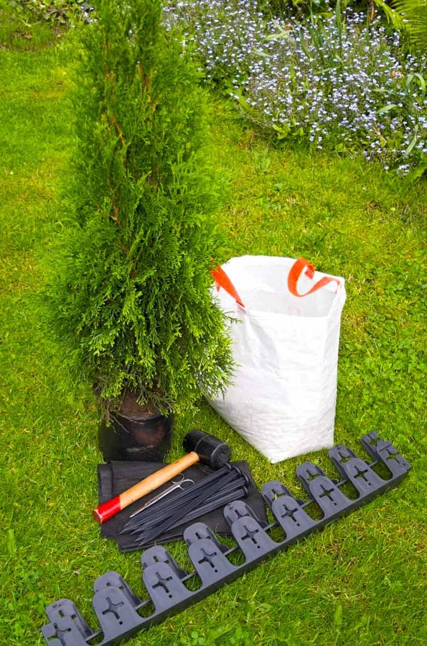 Randeinfassung Aus Kunststoff Als Rasenkante Bzw Beetkante