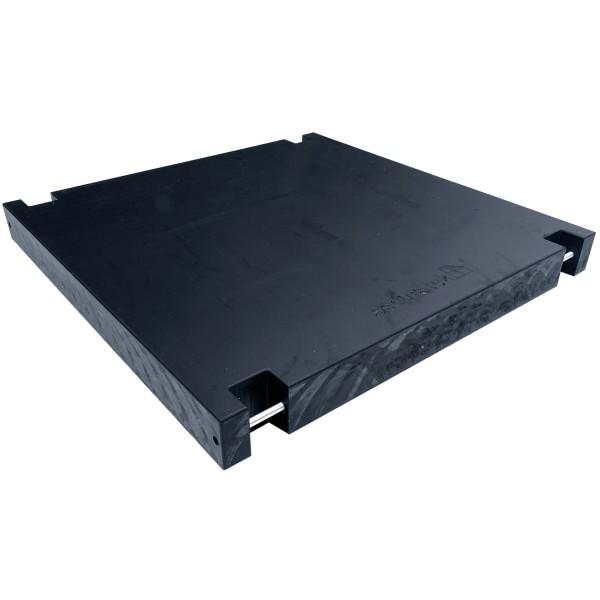 Massive & druckstabile Kranmatten aus Kunststoff statt Stahl als Lastverteilerplatte für Stützfüße & Ausleger von Kranfahrzeuge zur sicheren Kranabstützung