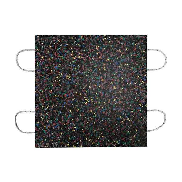 Kranplatte · 800 x 800 x 80 mm · ca. 40t/Stk · 0,64 m² · 90t Krangröße · 51,80 kg · 4 Tragegriffe · HDPE Kunststoff