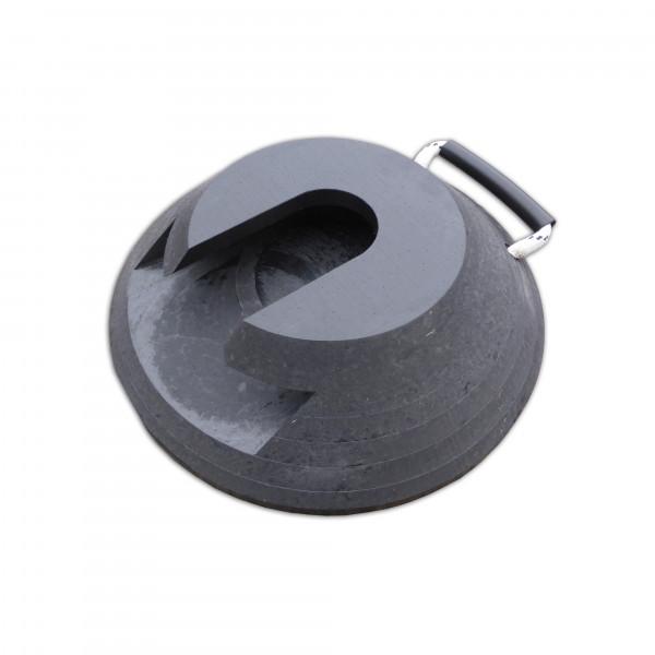 Stecktellerplatte · Rund · 300 x 80 mm · ca. 8,0 t/Stk · 2,75 kg · HDPE Kunststoff