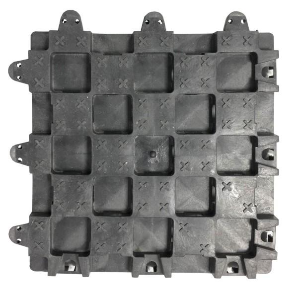 Bodenraster BR35 · 0,09 m² · 300 x 300 x 35 · 60 t/m² · 0,450 kg · 3,00 mm Profilierung · 12 Kopplungen