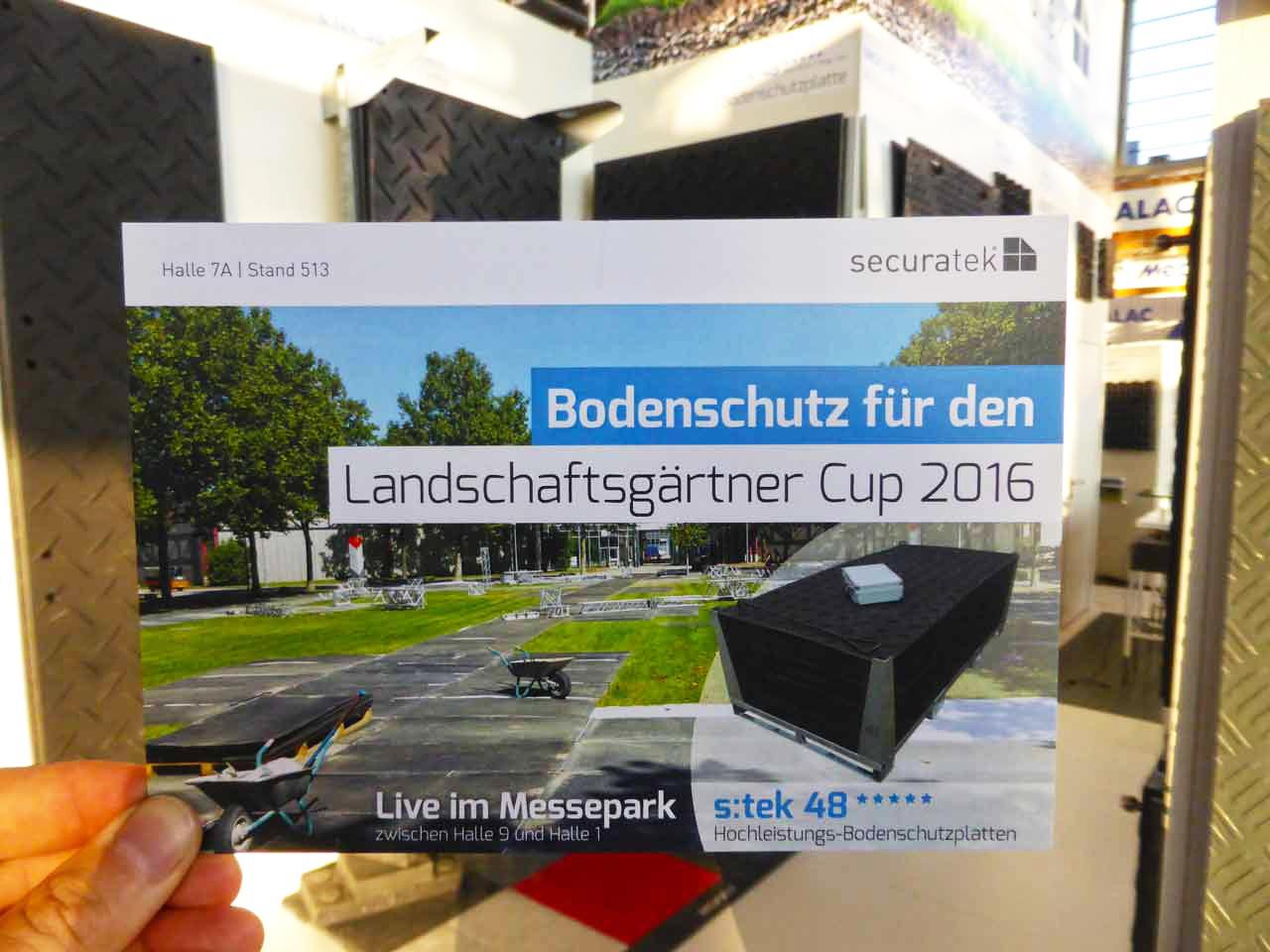 Galabau Messe galabau messe 2016 in nürnberg halle 7a stand 513 securatek