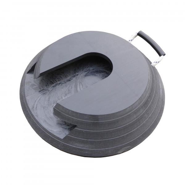 Stecktellerplatte · Rund · 400 x 80 mm · ca. 15,0 t/Stk · 5,45 kg · HDPE Kunststoff