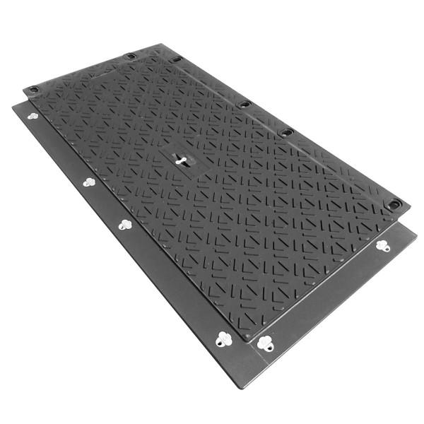 MaxiTrack MT130 · Schwerlast Fahrplatte · Overlapping-System · beidseitige Profiliert · Belastbar bis ca. 130 Tonnen