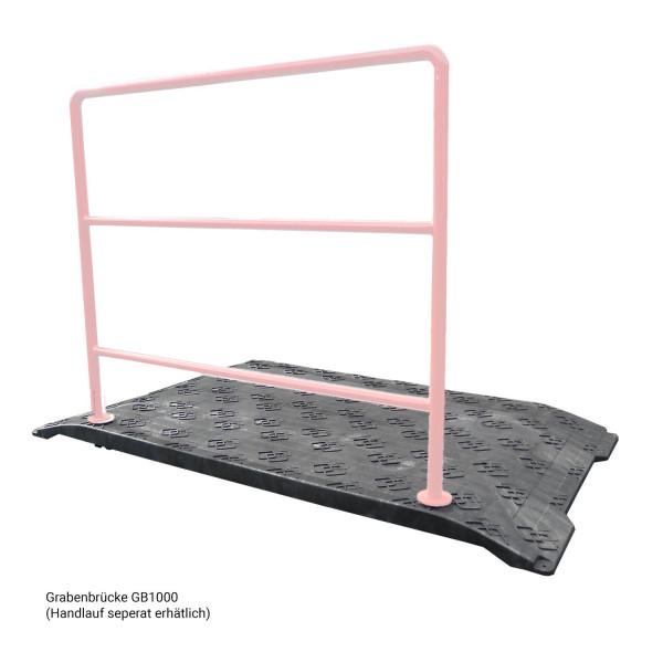 Grabenbrücke GB1000 · Einzelverkauf · 1700 x 1000 x 70 mm · 21 kg leicht · 1t belastbar