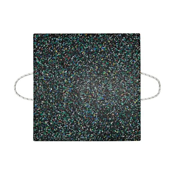 Kranplatte · 800 x 800 x 40 mm · ca. 25t/Stk · 0,64 m² · 55t Krangröße · 25,50 kg · 2 Tragegriffe · HDPE Kunststoff