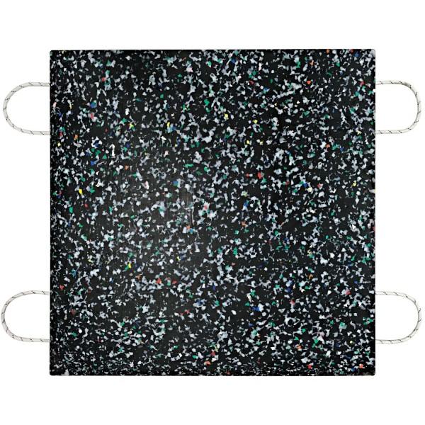 Kranplatte · 1000 x 1000 x 60 mm · ca. 50t/Stk · 1,00 m² · 100t Krangröße · 60,00 kg · 4 Tragegriffe · HDPE Kunststoff